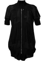 Rick Owens Short Sleeve Bomber Jacket Black
