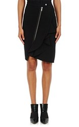 Givenchy Women's Zip Front Ponte Pencil Skirt Black
