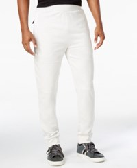 Sean John Men's Trapunto Knee Jogger Pants Cream
