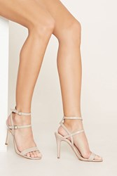 Forever 21 Strappy Faux Leather Heels