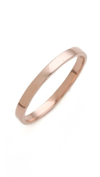 Blanca Monros Gomez Flat Band Ring Rose Gold