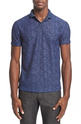 Men's Z Zegna Pentagon Print Reversible Polo