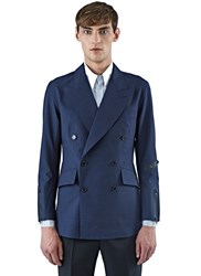 Yang Li Technical Blazer Jacket Navy