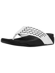 Fitflop Leather Lattice Surfa Sandals White