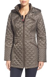 Women's Laundry By Design Hooded Quilted Coat