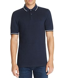 Fred Perry Twin Tipped Polo Slim Fit Service Blue Black Oxford White Black