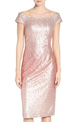 Vince Camuto Women's Sequin Off The Shoulder Sheath Dress