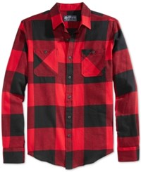 American Rag Frosty Flannel Shirt All Star Red