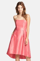 Women's Alfred Sung Strapless High Low Dupioni Dress