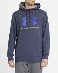 Under Armour Navy Triblend Sportstyle Hoody Blue