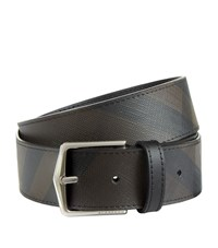 Burberry Shoes And Accessories London Check Belt Unisex Black