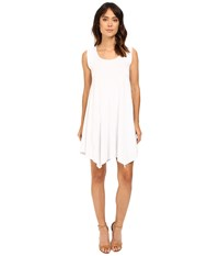 Mod O Doc Cotton Modal Spandex Asymmetrical Seam Dress White Women's Dress