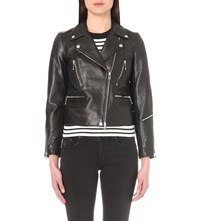 Rag And Bone Arrow Leather Jacket Black