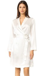 La Perla Silk Short Robe White