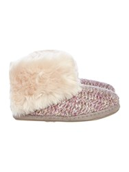 Totes Knitted Boot Slipper Purple