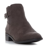 Head Over Heels Pippa Buckle Ankle Boots Grey