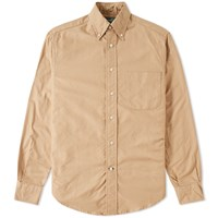 Gitman Brothers Vintage Overdyed Oxford Shirt Brown