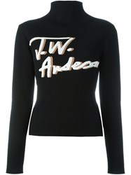 J.W.Anderson Smoked Mock Neck Jumper Black