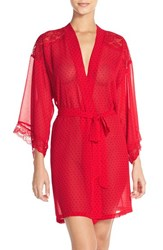 Women's In Bloom By Jonquil Polka Dot Chiffon Robe
