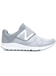New Balance Velcro Strap Slip On Sneakers Grey