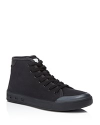 Rag And Bone Rag And Bone Standard Issue High Top Lace Up Sneakers Black Black