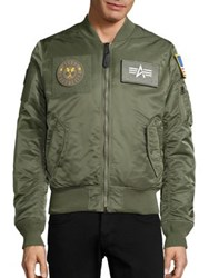 Alpha Industries Slim Fit Bomber Jacket Sage Navy