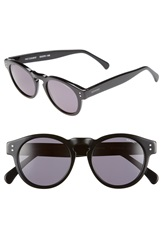 Komono 'Clement' 50Mm Retro Sunglasses Glossy Black Smoke