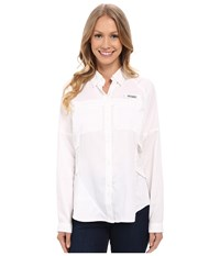 Columbia Airgal Long Sleeve Shirt White Women's Long Sleeve Button Up