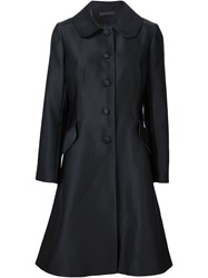 Co Flared Button Coat Black