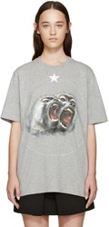 Givenchy Grey Angry Brother Monkey T Shirt