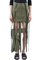 Anne Sofie Madsen Long Strapped Skirt Khaki