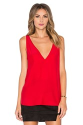 Amanda Uprichard Vita Tank Red