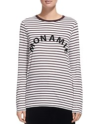 Whistles Striped Graphic Tee Multi