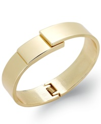 Bar Iii Gold Tone Skinny Hinge Bangle Bracelet