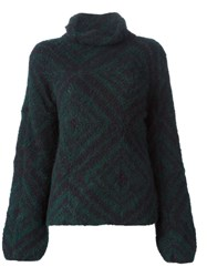 Dries Van Noten 'Michala' Oversized Sweater Green