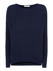 Charli Alyssa Astrakhan Feather Knit Jumper Navy
