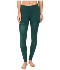 Alo Yoga Moto Leggings Evermint Women's Casual Pants Green