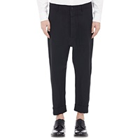 Drop Rise Crop Trousers Black