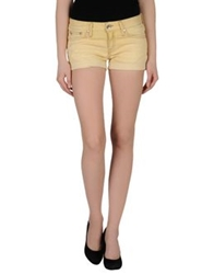 Rare Ra Re Denim Shorts Yellow