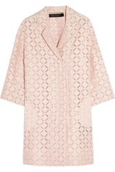 Roland Mouret Paddington Broderie Anglaise Cotton Blend Coat
