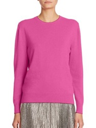 Christopher Kane Metallic Trim Wool And Cashmere Sweater Pink