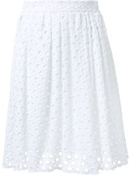 House Of Holland Embroidered Full Skirt White