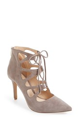 Vince Camuto Women's 'Bodell' Lace Up Pump Stone Taupe Suede