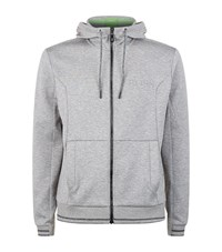 Hugo Boss Green Saggy Full Zip Hoodie Male Light Grey