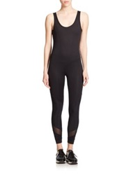 Koral Activewear Vector Backless Jumpsuit Black