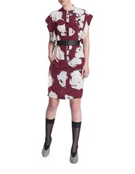 Tracy Reese Flanged Floral Wedge Dress Purple
