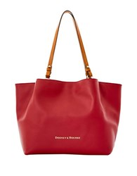 Dooney And Bourke Solid Leather Tote Wine