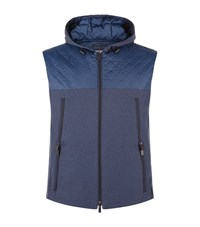 Armani Collezioni Contrast Quilted Gilet Male Navy