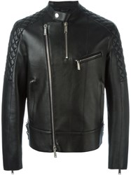 Dsquared2 Quilted Panel Biker Jacket Black