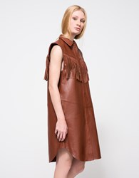 Ganni Moss Shirt Dress Burnt Henna